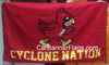 Iowa State Cyclones Flag-3x5 FT NCAA Vintage Iowa State Cyclone Banner-100% polyester-2 Metal Grommets-one side & 2 sides - flagsshop