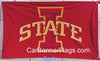 Iowa State Cyclones Flag-3x5 FT NCAA Vintage Iowa State Cyclone Banner-100% polyester-2 Metal Grommets-one side & 2 sides