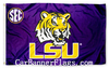 LSU Flag-Louisana State College Flag-LSU logo Educational institution flag