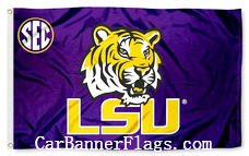 LSU Flag-Louisana State College Flag-LSU logo Educational institution flag - flagsshop