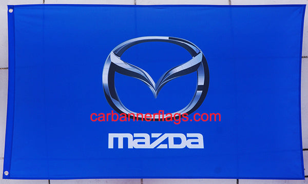 Mazda Flag-3x5 Racing Banner-100% polyester-Blue - flagsshop
