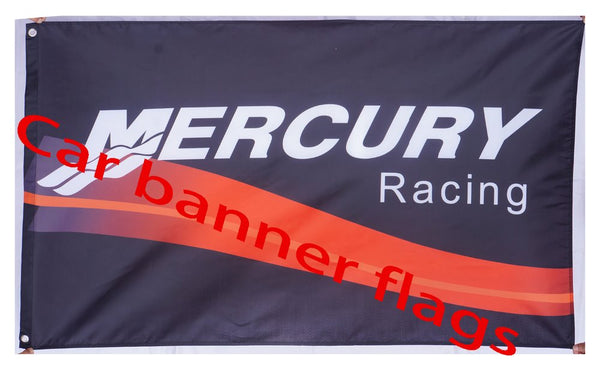 Mercury flag-3x5 FT Mercury Lincoln Racing Banner-100% polyester-2 Metal Grommets - flagsshop