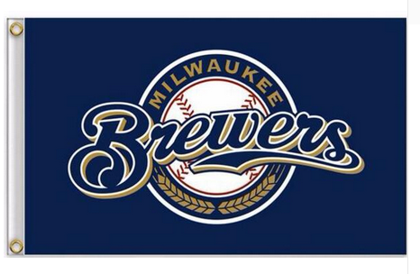 Milwaukee Brewers Flag-3x5 Banner-100% polyester - flagsshop