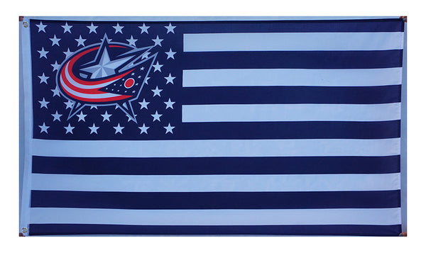Columbus Blue Jackets Flag-3x5 Banner-100% polyester - flagsshop