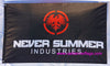 Never Summer Flag-3x5 Banner-100% polyester-black