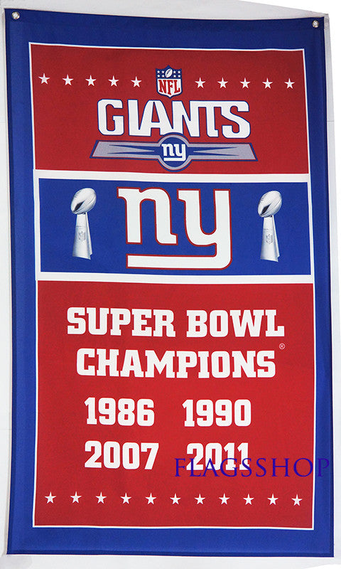 New York Giants Flag-3x5 NFL Banner-100% polyester - flagsshop