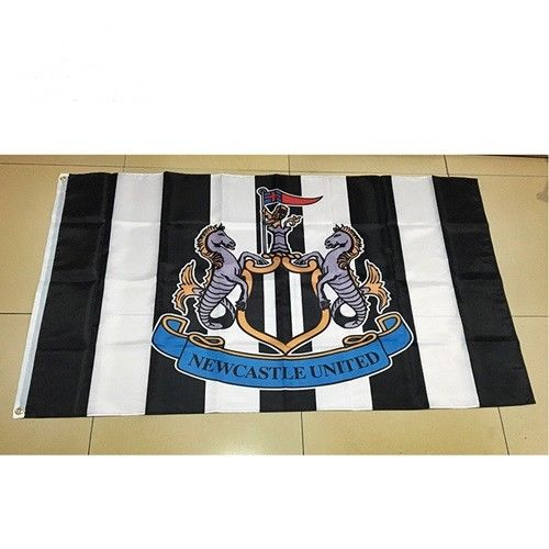 Newcastle United Football Club Flag-3x5 NUFC Banner-100% polyester - flagsshop