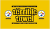 Pittsburgh Steelers Flag-3x5 NFL the Terrible Towel Flag Banner-100% polyester-Free shipping for USA