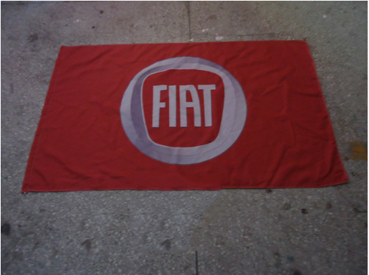 Fiat Flag-3x5 Fiat racing Banner-Metal Grommets - flagsshop