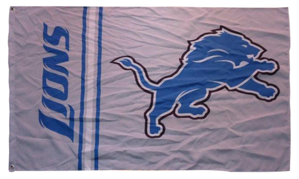 Detroit Lions Flag-3x5 NFL Banner-100% polyester-super bowl - flagsshop
