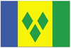 Saint Vincent and the Grenadines National Flag-3x5 FT Banner-100% polyester-2 Metal Grommets