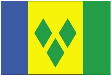 Saint Vincent and the Grenadines National Flag-3x5 FT Banner-100% polyester-2 Metal Grommets - flagsshop