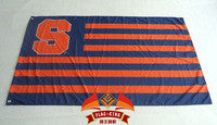 Syracuse University Flag 3 ' X 5 ' Fan bandera 150 X 90 CM bandera de cobre amarillo del metal agujeros NCAA Flag - flagsshop