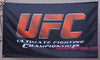 UFC Flag-3x5 Banner-100% polyester-black - flagsshop
