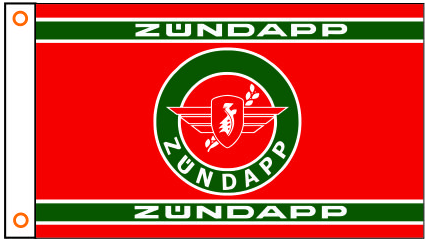 Zundapp Flag-3x5 FT  Zundapp Motorcycle Banner-100% polyester-2 Metal Grommets - flagsshop
