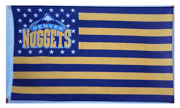 Denver Nuggets Flag-3x5 Banner-100% polyester - flagsshop
