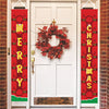 Merry Christmas Banners, Christmas Decorations, Front Door Merry Christmas Porch Banners Red Porch Sign Hanging Xmas Decorations for Home Wall Indoor Outdoor Holiday Party Decor