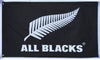 All Blacks Flag-3x5 FT-Black-100% polyester-2 Metal Grommets Banner