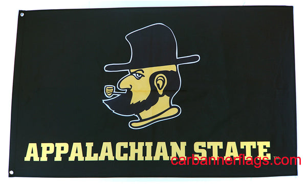 Appalachian State Flag-3x5 Banner-100% polyester-Black - flagsshop