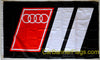 Audi Flag-3x5 FT-100% polyester-Quattro Banner-Checkered
