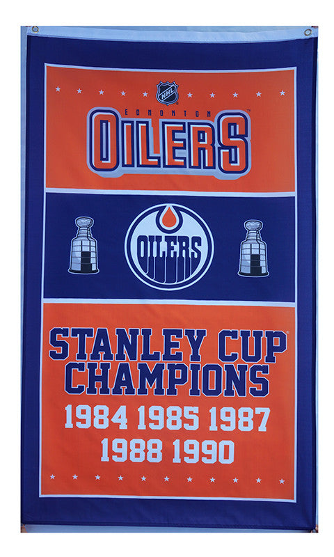 cheap for discount 58c61 66ff6 Edmonton Oilers Flag-3x5 Banner-100% polyester