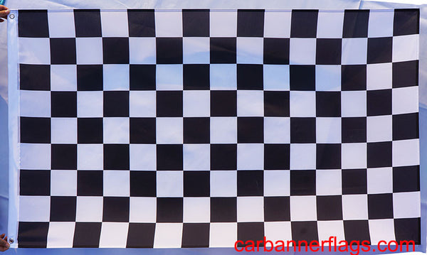 Checker Board Car Racing Flag-3x5 CheckerBoard  Banner-100% polyester - flagsshop