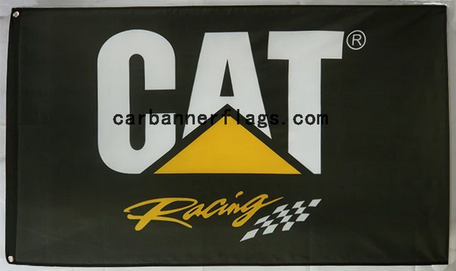 Caterpillar flag-4x6 FT-100% polyester Caterpillar racing Banner-Black-Cat Racing flag