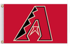 Arizona Diamondbacks Flag-3x5 Banner-100% polyester - flagsshop