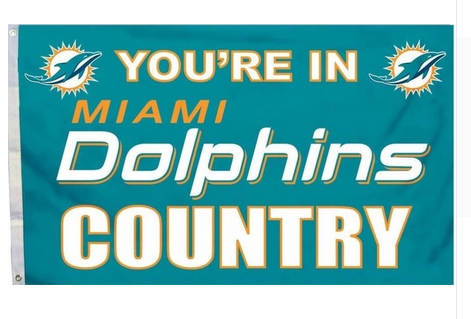 Miami Dolphins Flag-3x5 NFL Banner-100% polyester-super bowl - flagsshop
