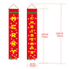 Merry Christmas Banners, Christmas Decorations, Front Door Merry Christmas Porch Banners Red Porch Sign Hanging Xmas Decorations for Home Wall Indoor Outdoor Holiday Party Decor - flagsshop