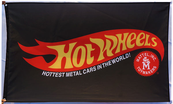 Hot Wheels Flag-3x5 FT-100% polyester Banner-Blue-Black-Yellow - flagsshop