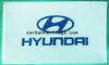 Hyundai Flag-3x5 FT-100% polyester Banner-White - flagsshop
