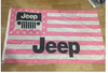Jeep Flag-3x5 FT-100% polyester Banner-white-green-earth yellow - flagsshop