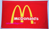 McDonald's Flag-3x5 Banner-2 Metal Grommets-Red