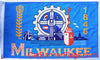 Milwaukee Flag-3x5 FT Banner-100% polyester-2 Metal Grommets