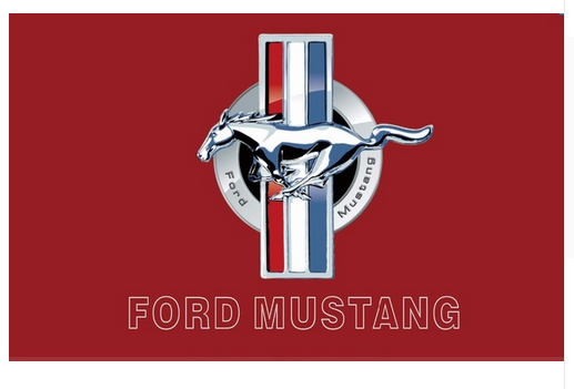 Ford Mustang Flag-3x5 Banner-100% polyester - flagsshop