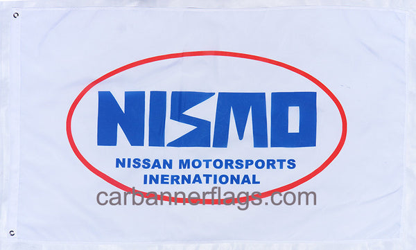Nismo Flag-3x5 Nissan Motorsports Banner-100% polyester-White - flagsshop