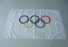 Olympic Flag-3x5 FT Banner-100% polyester-2 Metal Grommets - flagsshop