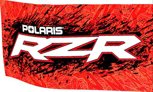 Polaris Flag-3x5 Polaris Motorcycles Banner-100% polyester-2 Metal Grommets - flagsshop