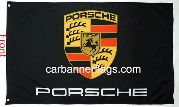 Porsche Flag-3x5 Banner-100% polyester-double sides printed - flagsshop
