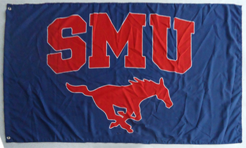 SMU TX State Mustangs Southern Methodist University Large Banner Flag-3' x 5' Banner - flagsshop