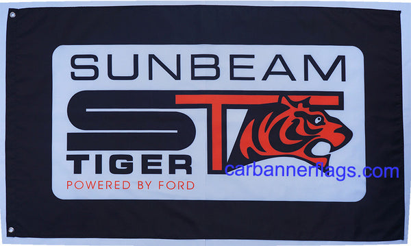 Sunbeam Tiger Flag-3x5 Banner-100% polyester-Black - flagsshop