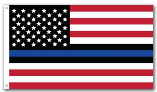 Thin Blue Line USA American Flag-3x5 Blue Lives Matter USA American Police Flags-Honoring Law Enforcement Officers Banners - flagsshop