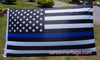 Thin Blue Line USA American Flag-3x5 Blue Lives Matter USA American Police Flags-Honoring Law Enforcement Officers Banners