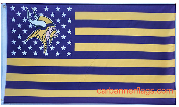 Minnesota Vikings Flag-3x5 NFL Minnesota Vikings Flag Banner-100% polyester-super bowl - flagsshop