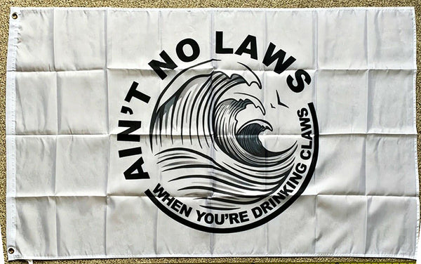 White Claw Flag-No Law 3x5 ft Banner-White Claws Flag - flagsshop