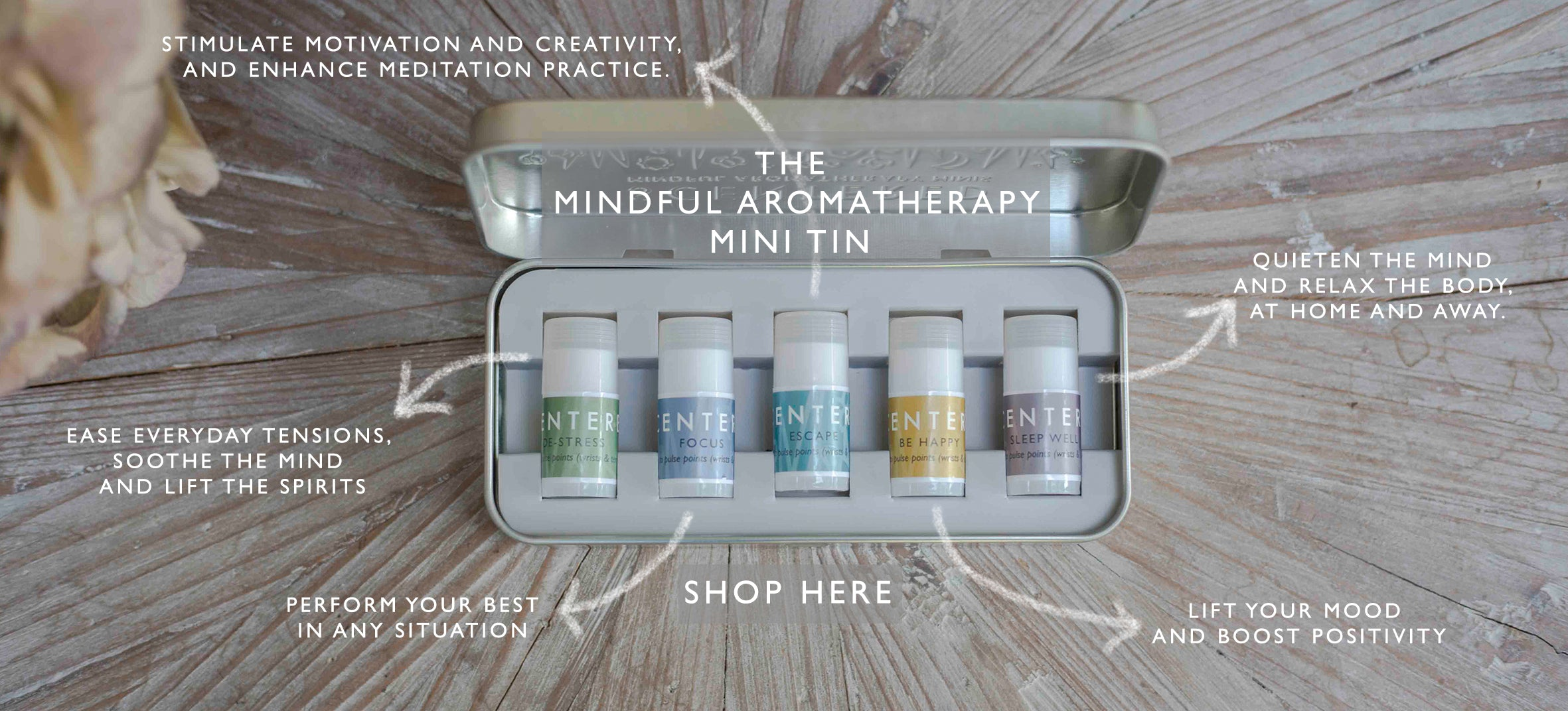 Mindful mini Aromatherapy Tin