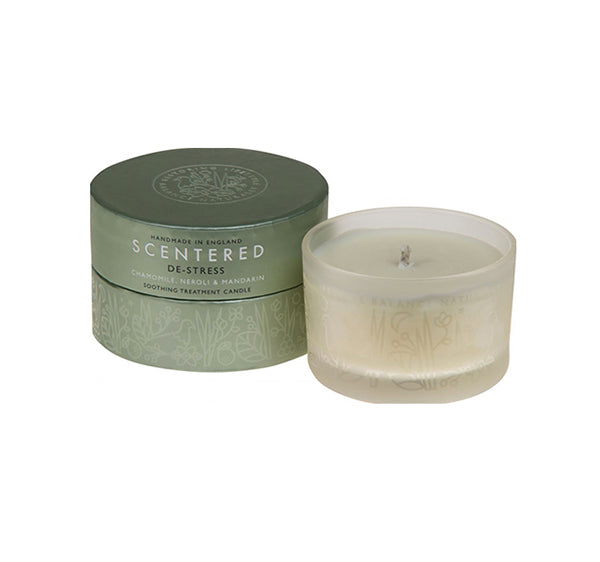 Scentered Aromatherapy De - Stress Travel Candle - Chamomile Mandarin Small Scented Therapy Candle