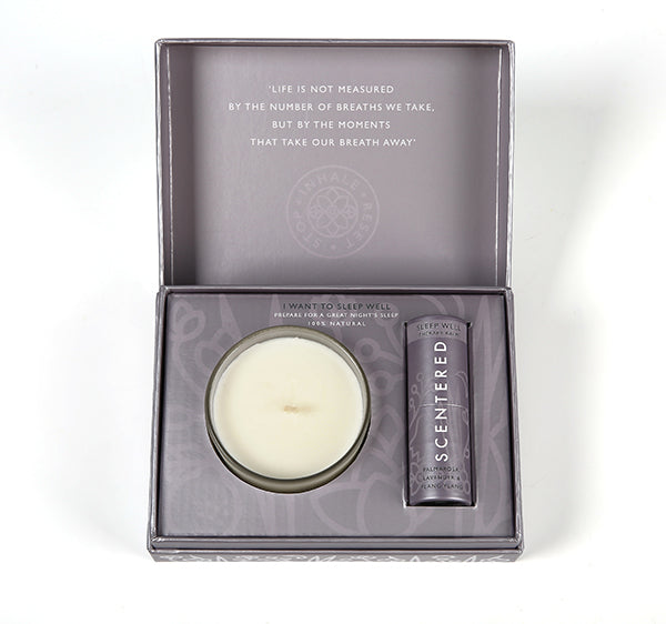 Scentered Aromatherapy Balm & Candle I Want to Sleep Well Gift Set - Lavender Ylang Ylang