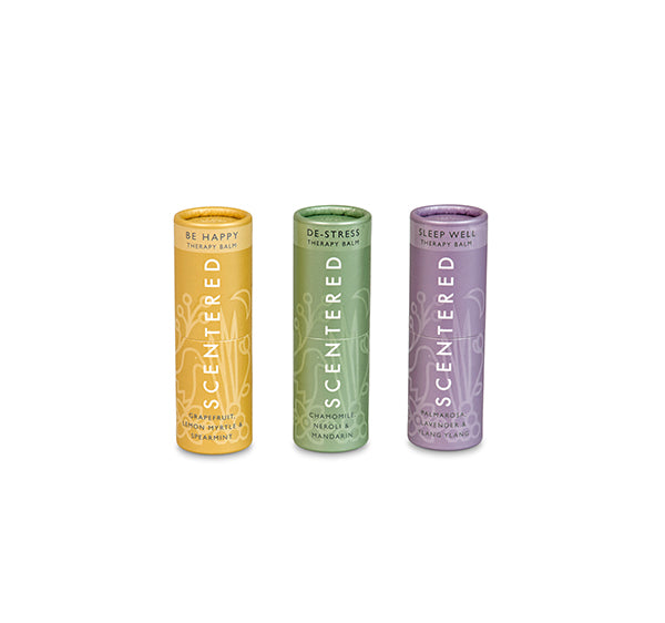 Scentered Aromatherapy Ultimate Relaxation Set - Set of 3 Therapy Balm Sticks
